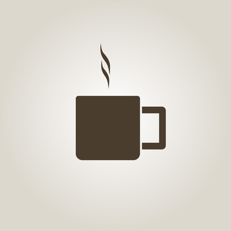 Coffee cup vector flat icon. Stock fotó - 52910921