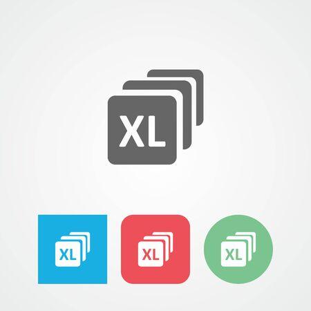 big size: Bundles flat vector icon. Size. Extra large. Large.