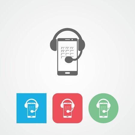 customer service phone: Customer care flat vector icon. Call center. Customer service. Phone.
