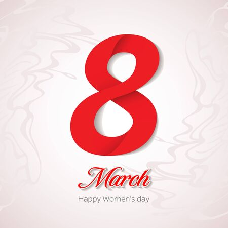 womans: March 8 greeting card. Background template for International Womans Day. Vector illustration. Illustration