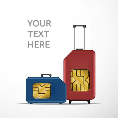 Travel luggage SIM card. Roaming.