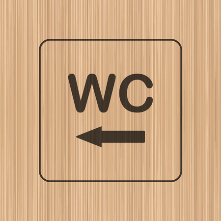 door plate: Toilet door  wall plate. Original WC icon. Sign.