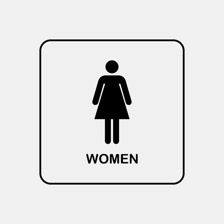 Toilet door / wall plate. Original WC icon. Sign.