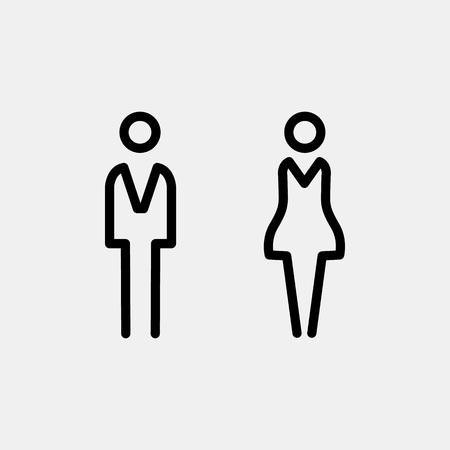 Toilet door / wall plate. Original WC icon. Sign. Imagens - 54512549
