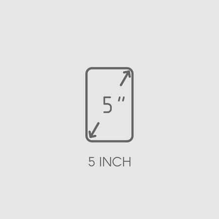 specifications: Screen size icon