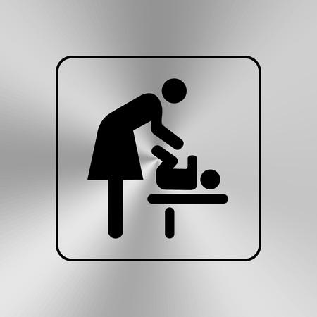 wc: WC-Tür  Wandplatte. Original-WC-Symbol. Schild.