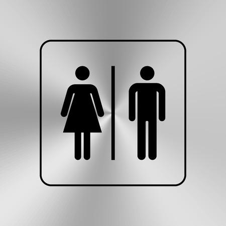 gents: Toilet door  wall plate. Original WC icon. Sign.
