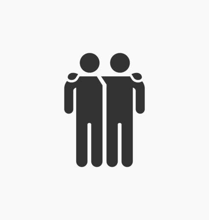 mate: Friends icon illustration