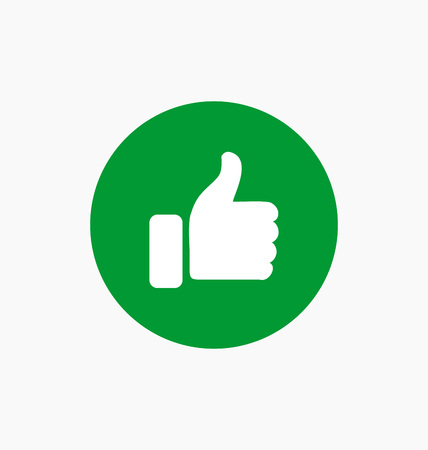disapprove: Like button icon illustration