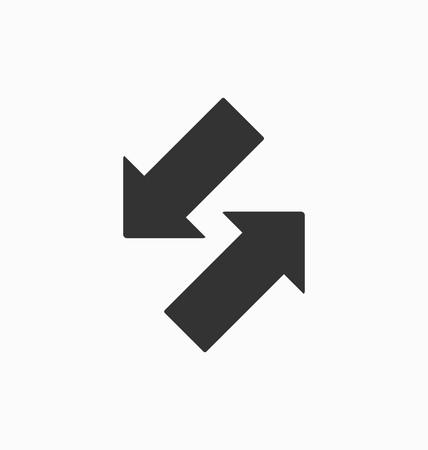 adentro y afuera: En cabo flechas de icono de vector. Vectores