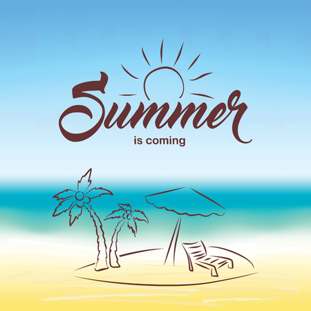 wave hello: Vector summer background. Hello Summer vector illustration.