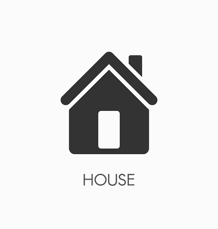 residences: House icon vector.