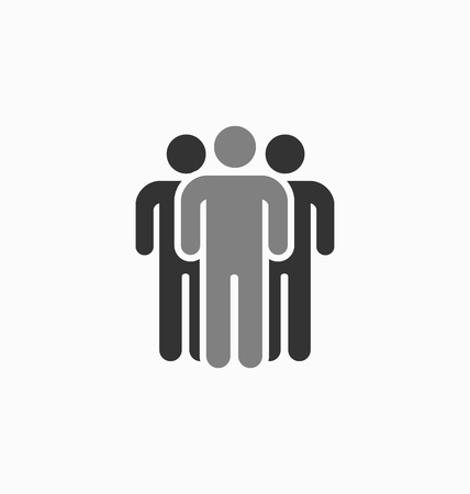 unmask: Unique man silhouette icon vector sign. Different, special person.