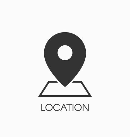 Localisation signe icône vecteur.