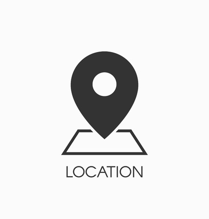 Location icon vector sign.