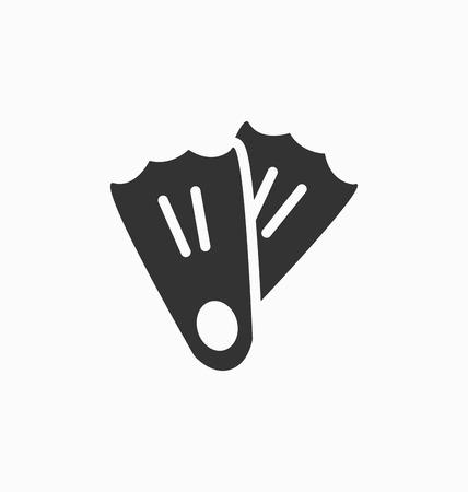 flippers: Aletas icono de la muestra del vector. Vectores