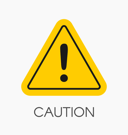 Caution icon / sign in flat style isolated