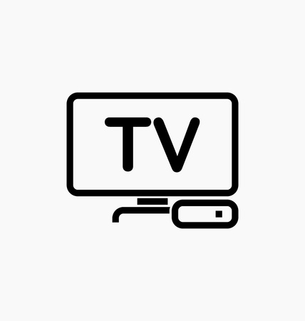 TV box / IPTV icon vector illustration.