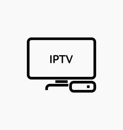 dongle: TV box  IPTV icon vector illustration.