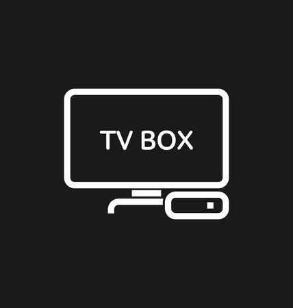 iptv: TV box  IPTV icon vector illustration.