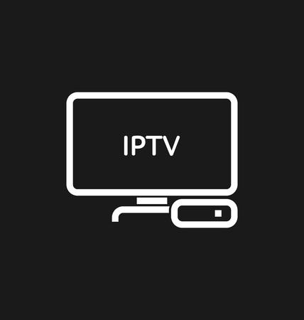 TV box  IPTV icon vector illustration.