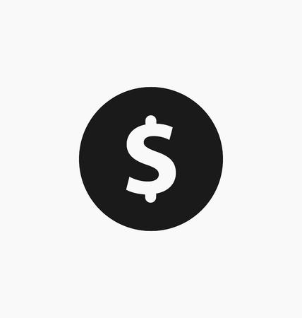 dollar symbol: Dollar symbol. USD currency icon.