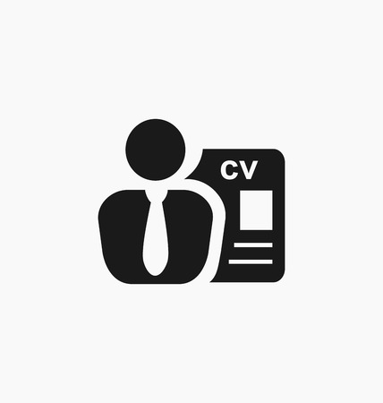 Employee icon. Recruitment sign. Headhunting.