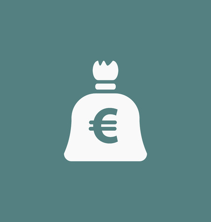 european currency: Euro symbol. European currency icon.