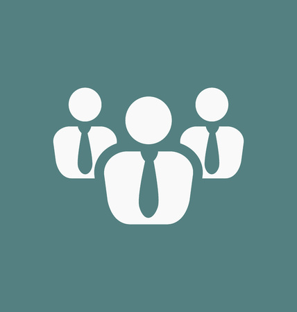 business team: Group icon. Business team symbol.
