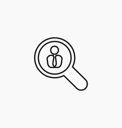 headhunting: Employee icon. Recruitment sign. Headhunting vector illustration. Illustration