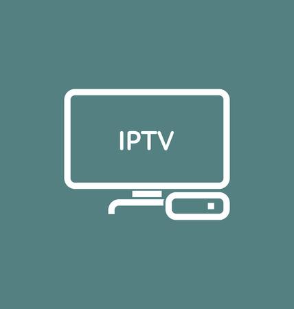 TV box  IPTV vector icon.