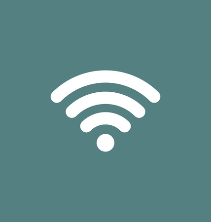 coverage: Wifi icon connection. Wifi signal  coverage symbol vector illustration.