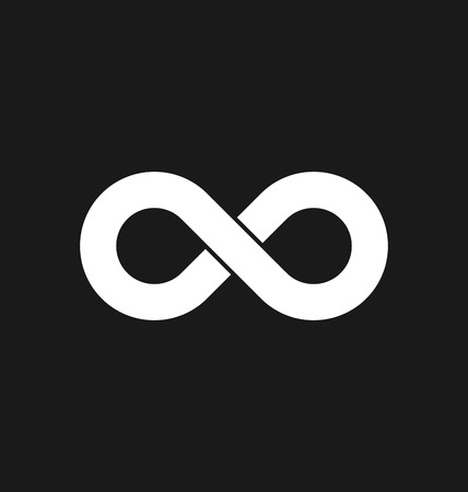infinity symbol: Infinity symbol icons vector illustration. Unlimited, limitless symbol, sign.