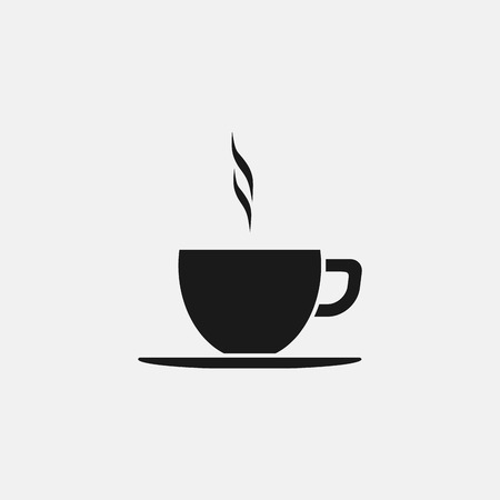 Coffee cup vector flat icon.
