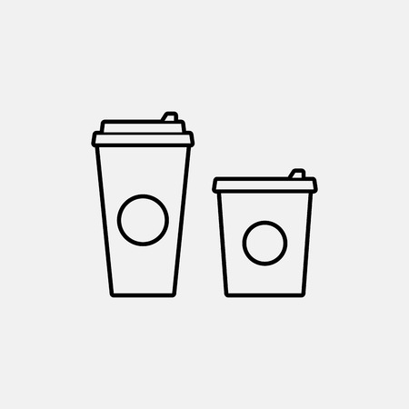 coffee cup vector: Coffee cup vector flat icon.