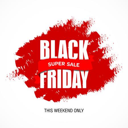 Black Friday sale inscription best design template. Black Friday banner, poster, badge, sticker, web advertising vector illustration.