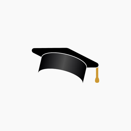 Education, graduation caphat icon simple vector illustration.