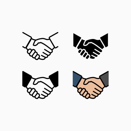 Handshake icon simple vector illustration. Deal or partner agreement symbol.