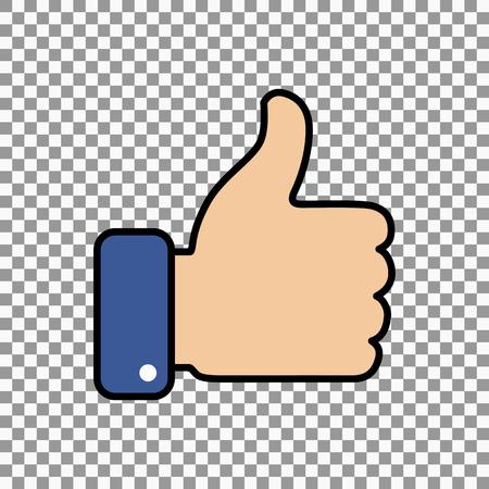 dislike it: Thumb up symbol, finger up icon vector illustration.