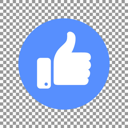 Thumb up symbol, finger up icon vector illustration.