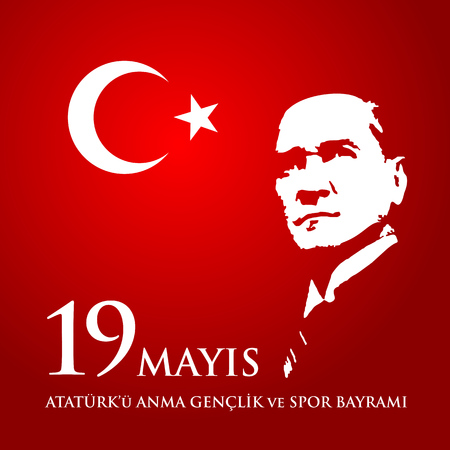 19 mayis Ataturk'u anma, genclik ve spor bayrami.