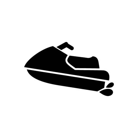 Water scooter icon. Beach and vacation icon vector illustration.