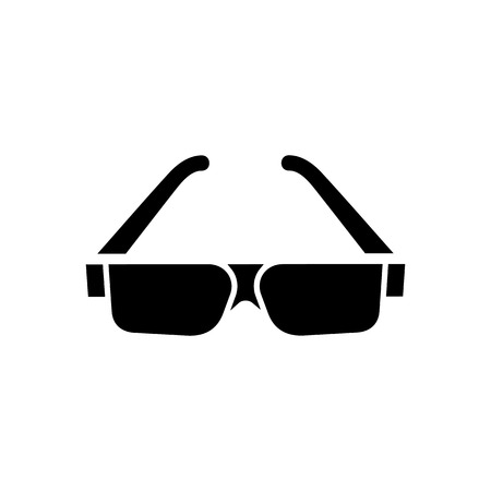 eyewear fashion: Sunglasses icon. Beach and vacation icon vector illustration. Illustration
