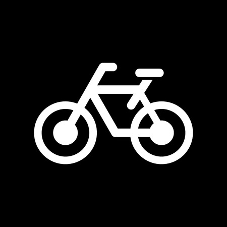 Bicycle icon simple flat vector illustration. Illustration