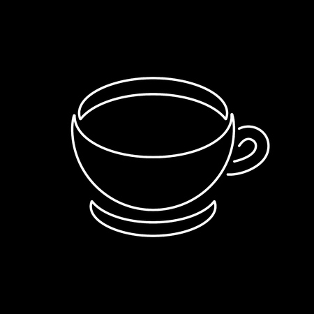 Coffee cup icon. Tea cup simple flat style vector illustration.