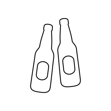 irish pub label design: Beer bootles icon simple flat style vector illustration.