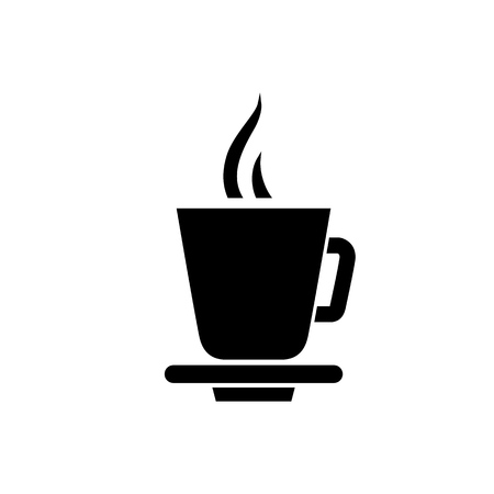 coffee beans: Coffee cup icon. Tea cup simple flat style vector illustration.