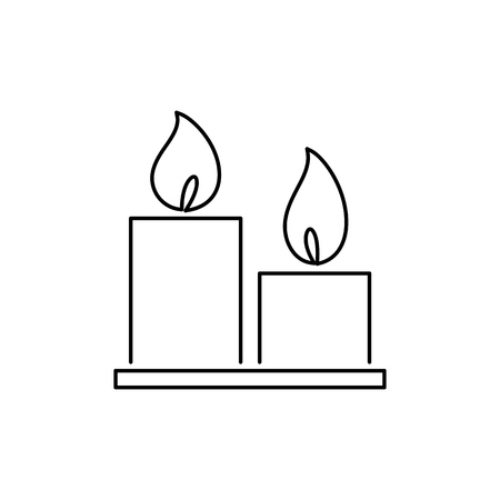 cylindrical: Candles icon simple flat style vector illustration.