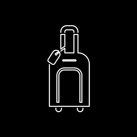 Luggage icon simple flat style vector illustration. Baggage symbol.