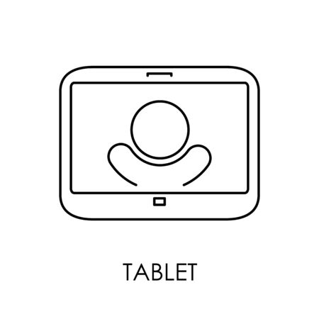 smartphone apps: Tablet PC icon symbol flat style vector illustration.